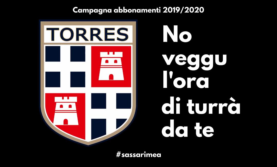 Torres | Campagna Abbonamenti 2019/20 | No veggu l'ora di turrà da te
